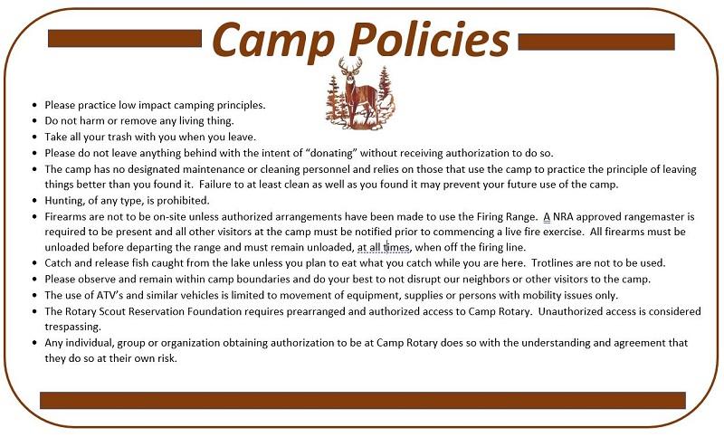 Camp Policies